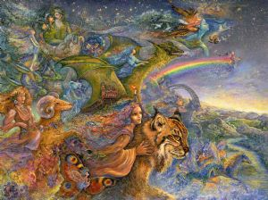 "Birthday Card ""The Race"" Birthday Greetings Card by Josephine Wall"